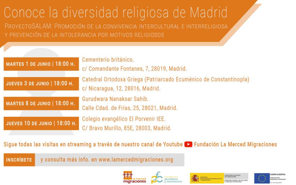 Conoce la diversidad religiosa de Madrid 2021